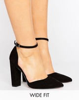 Asos Penalty Wide Fit Pointed Heels