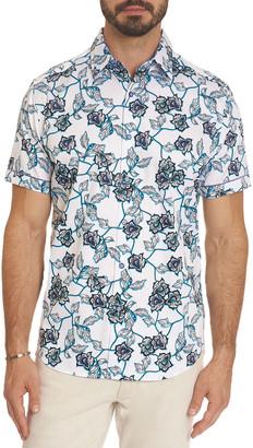 Robert Graham Men's Stoddart Floral Vine Short-Sleeve Sport Shirt