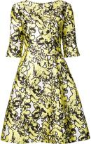 Oscar de la Renta abstract floral print dress