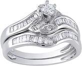 JCPenney FINE JEWELRY 1/2 CT. T.W. Diamond Curvy Bridal Ring Set