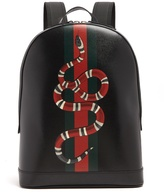 Gucci Kingsnake-print leather backpack
