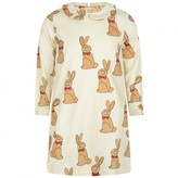 Mini Rodini Mini RodiniGirls Ivory Rabbit Print Dress