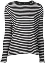 R13 striped thermal t-shirt