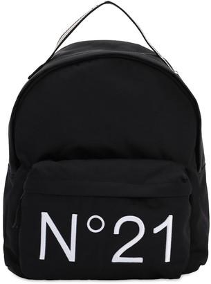 N°21 Logo Print Nylon Backpack