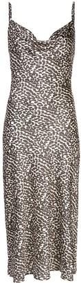 Apparis Spaghetti Strap Leopard Print Dress