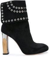 Alexander McQueen eyelet embellished boots - women - Leather - 39