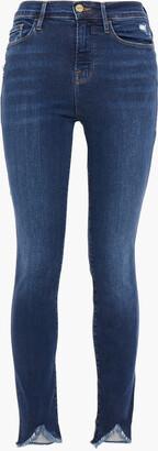 Frame Ali Distressed High-rise Skinny Jeans
