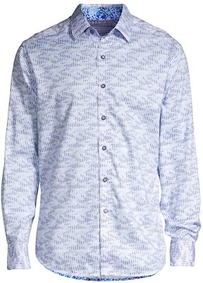 Robert Graham Cahuenda Camo Stripe Sport Shirt