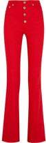 Sonia Rykiel High-rise Flared Jeans - Tomato red