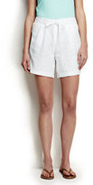 Classic Womens's Petite Linen Market Shorts-White