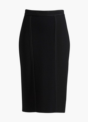 St. John Corseted Engineered Textures Knit Skirt