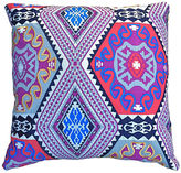 Kim Salmela Bold Embroidered 22x22 Pillow, Purple