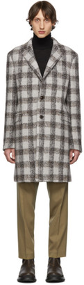 Etro Grey Semi-Traditional Regular Fit Coat
