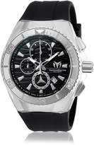 Technomarine Men's Black Silicone Band Steel Case Swiss Quartz Analog Watch 115054