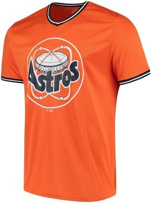Men's Fanatics Branded Orange Houston Astros Overtime Assist V-Neck T-Shirt