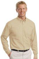 Port Authority Men's Long Sleeve Easy Care Shirt XL White/ Light Stone*