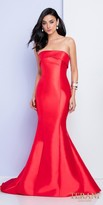 Terani Couture Classic Strapless Low Back Fitted Evening Dress with Sweep Train