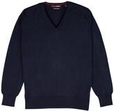 Thumbnail for your product : Romeo Merino - Merino Wool V-Neck Sweater Blue Peacoat