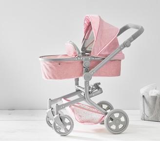 Pottery Barn Kids Pink Glitter Convertible 3-in-1 Doll Stroller