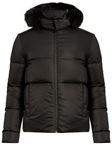 Fendi Bag Bugs Fur-trimmed Reversible Quilted Down Coat