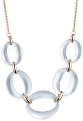 Alexis Bittar 10K Yellow Gold & Lucite Link Statement Necklace