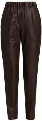 Tibi Faux Leather Pull-On Pants
