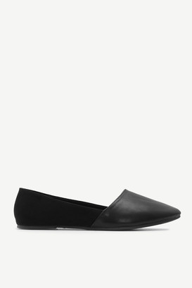 Ardene Faux Suede and Faux Leather Pointy Flats