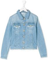 Chloé Kids - teen classic denim jacket - kids - Cotton - 14 yrs