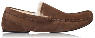 HUGO BOSS Relax Moccasin Suede Slippers