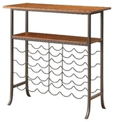 Carolina Ellington Wine Console Metal/Chestnut