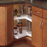 """Knape & Vogt Kv Lazy Susan Kidney Shaped 2 Polymer Shelves 32"""" (Set) White"""