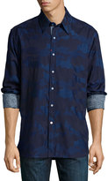 Robert Graham Long-Sleeve Woven Sport Shirt, Indigo