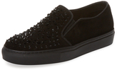 KMB Women's Sorry Studded Suede Slip-On Sneaker
