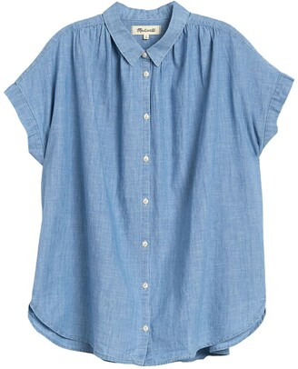 Madewell Short Sleeve Button Front Chambray Shirt