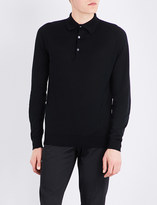 John Smedley Bradwell knitted polo jumper
