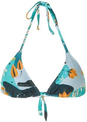 Lygia & Nanny Iasmin printed bikini top
