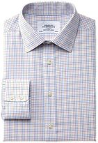 Charles Tyrwhitt Classic Fit Non-Iron Multi Check Yellow Cotton Formal Shirt Single Cuff Size 15.5/37
