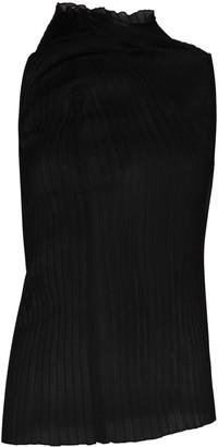 Jil Sander Asymmetric Ribbed-Knit Top