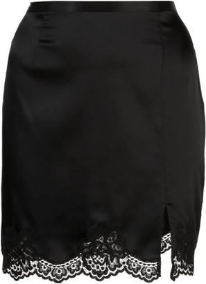 Fleur Du Mal James lace slip skirt