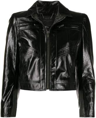 Givenchy fitted leather jacket