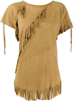 A.N.G.E.L.O. Vintage Cult 1970s fringed trim T-shirt