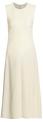 Victoria Beckham Sleeveless Drape Midi Dress
