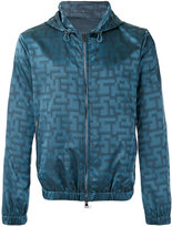 Pal Zileri jacquard hooded jacket - men - Polyamide/Polyester - 50