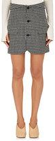 Helmut Lang Women's Checked Wool Miniskirt