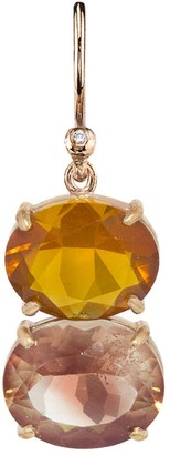 Irene Neuwirth One-Of-A-Kind Fire Opal and Sunstone Single Earring