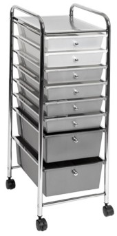 Seville Classics 8 Drawer Storage Bin Organizer Cart