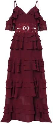 True Decadence Burgundy Tiered Maxi Dress