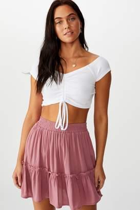 Supre Kaiya Frill Hem Skirt