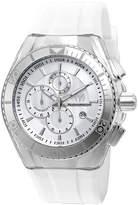 Zales Men's TechnoMarine Original Cruise Silicone Strap Chronograph Watch with Silver-Tone Dial (Model: TM-115043)