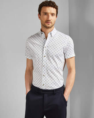 Ted Baker LLIAM Geo print cotton shirt
